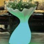 Lampu Hias LED Pot bunga ES-F3865 Ø38xH65cm