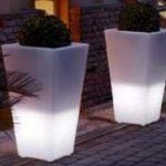 Lampu Hias LED Pot bunga ES-F4080 Ø40x30xH80cm