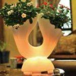 Lampu Hias LED Pot bunga ES-F5062 Ø50xH62cm