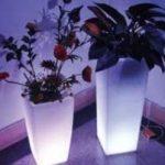 Lampu Hias LED Pot bunga ES-FP4155 Ø41x41xH55cm