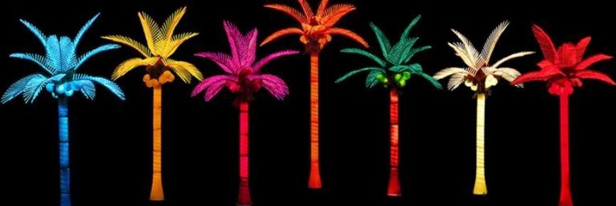 lampu hias pohon kelapa warna-warni SL-YZS-01-Red/Yellow/Blue/Green/White/Orange/Purple/RGB /Multi