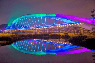 Jasa Pembuatan lampu hias jembatan termurah dengan led neon Flex
