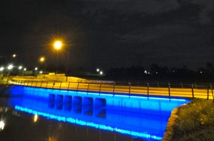 Lampu hias jembatan neon flex murah