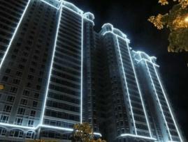 Lampu led flexible untuk menghias gedung