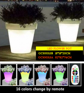 POt bunga dengan led untuk pekarangan rumah GC300X5B