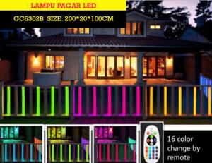 Pagar Rumah LED Murah Untuk Menghias Rumah anda GC6302B