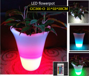 Pot Bunga Dengan LED Untuk Menghias Hotel GC300-O