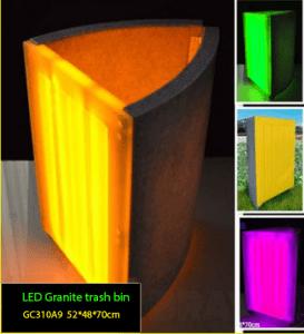 Tempat sampah dengan LED untuk memperindah Taman