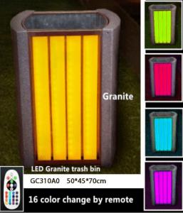 Tempat sampah granit dengan LED GC310A0