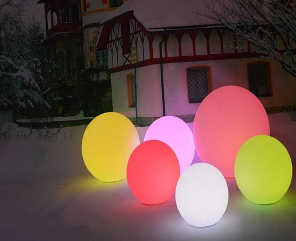 Jual lampu bola nyala warna warni dengan remote