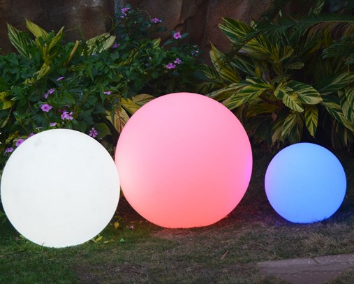 Lampu HIas Taman MOdel Bola LED Full Warna ES-B05
